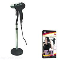 Hair Blow Dryer Styling Stand Holder Hands Free 27 To 36in Floor Or Counter Top