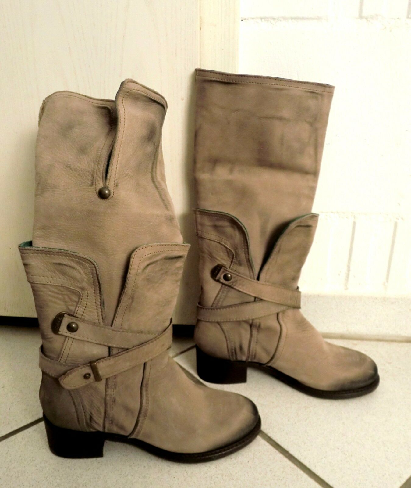Ovyé Stiefel - Damen - Stiefel - Made Made Made in  - Lederschuhe - NEU 9098ac