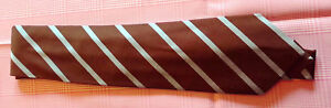 Holliday-and-Brown-100-Silk-Brown-tie-with-Sky-Stripe-NWOT