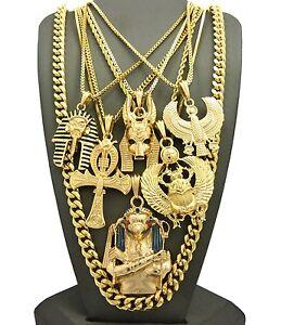 Egyptian king tut anubis ankh scarab horus bird cuban chain 7 egyptian king tut anubis ankh scarab horus bird aloadofball Images
