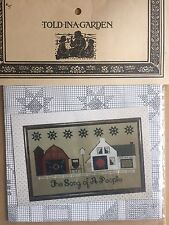 Told In A Garden Cross Stitch Pattern The Song Of A People Amish Quilt Barn