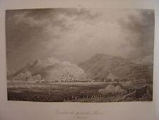 Grande gravure du Combat du Pont de LAVIS le 5 septembre 1796 Bagetti Skelton