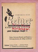 KEMPTEN, Werbung 1950, Reiner mit dem Bart Gummi-Stiefel
