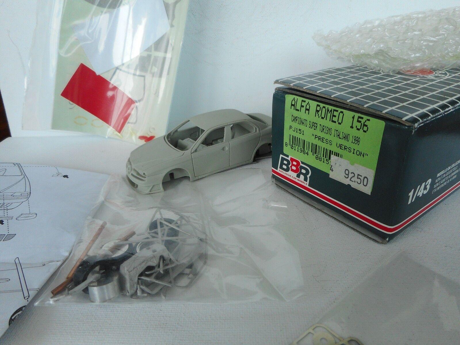 venta con alto descuento BBR KIT 1 1 1 43 ALFA ROMEO ROMEO 156 PRESS VERSION 1998 UNBILT    BOXED  ofreciendo 100%