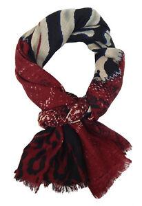 0b9ab304f1703a Das Bild wird geladen Damenschal-Leopard-Zebra-rot-schwarz-by-Ella-Jonte-