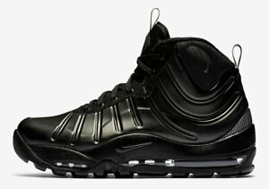 59038f2ad7d31 Nike Air Bakin Posite BLACK ANTHRACITE TRIPLE DARK GREY 618056-001 ...