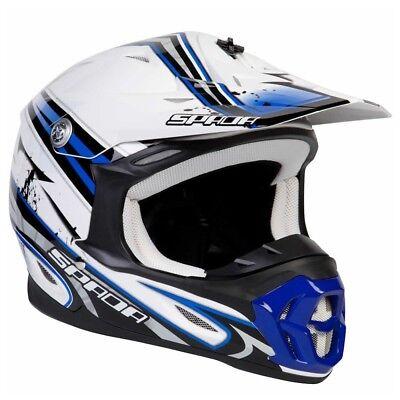 Spada Violator Hawk Motorcycle Bike MX Crash Helmet With Adjustable Peak