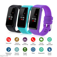 Oled Smart Watch Montre Étanche Sync Sports Podomètre Appel Pour Android Ios