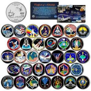 SPACE-SHUTTLE-ATLANTIS-MISSIONS-Colorized-Florida-Quarters-U-S-33-Coin-Set-NASA