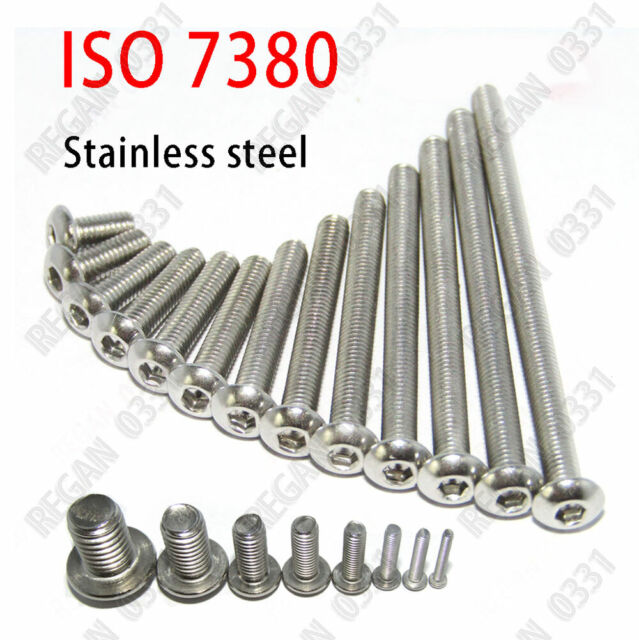 New M6 M8 M10 304 Stainless Steel Allen Hex Socket Button Head Screw Bolt Metric