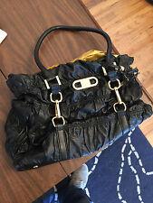 Joy Mangano Black Rouched Designer Drop Bag Used Free Ship