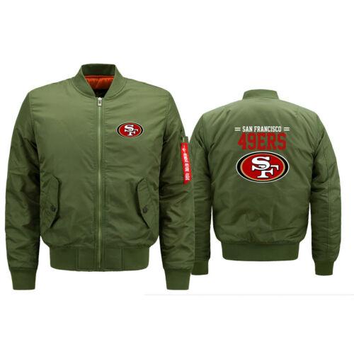 San Francisco 49ers Pilote Veste Aviateur Flying Tigers vol épaissir Manteau Veste