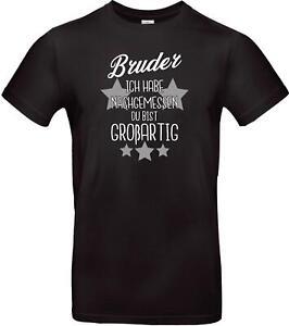 Unisex-T-Shirt-Bruder-ich-habe-nachgemessen-du-bist-Grossartig-Familie
