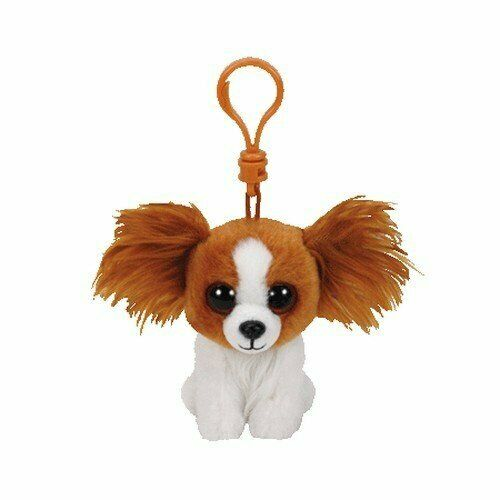 TY Beanie Boo Key Clip Barks the Dog