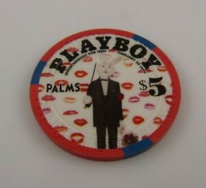 Playboy-bunny-man-tuxedo-5-00-dollar-gaming-token-Palms-Casino-Las-Vegas-Maloof