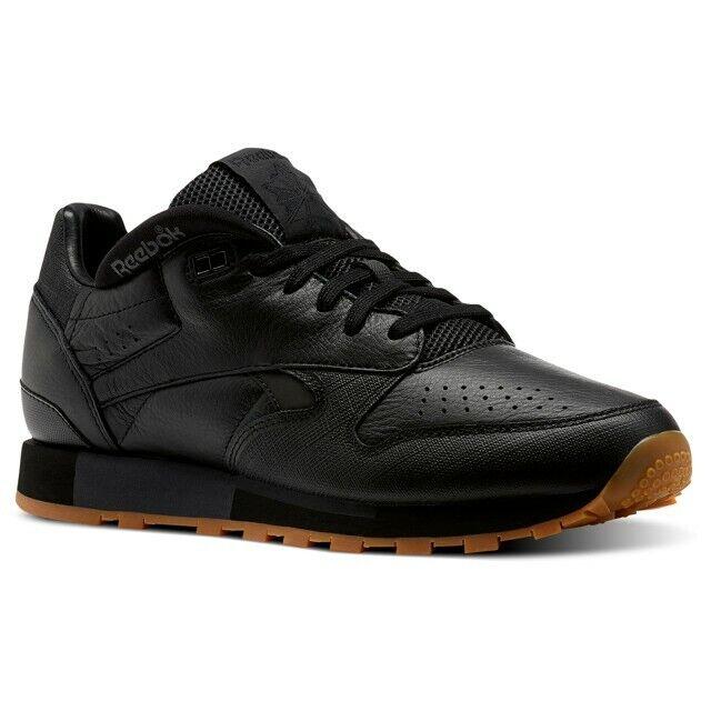Reebok Urge Clásica De Cuero (Negro Negro) Para Hombre Zapatos CN2178