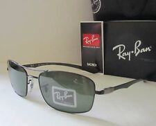 RAY BAN black/green POLARIZED RB8309 002/9A 59 CARBON FIBER TECH sunglasses NEW