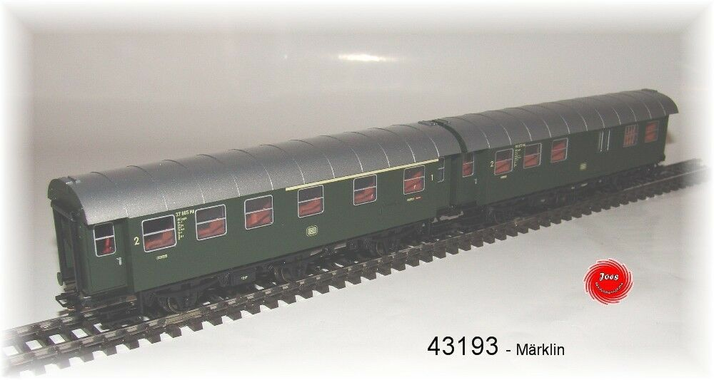 Märklin 43193 coches transformación del par DB 1. 2. KL. + 2.kl. con cuarto de equipajes  neu en OVP