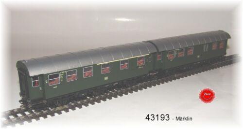 Märklin 43193 rinnovo carrello COPPIA della DB 1.//2 con VANO BAGAGLI #neu in OVP # + 2.kl KL