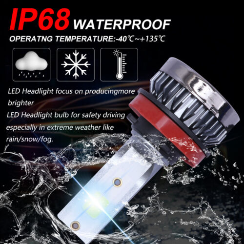 8000K Ice Blue 9005+9006+H11 COB LED Combo Headlight High Low Beam Bulb 900000LM