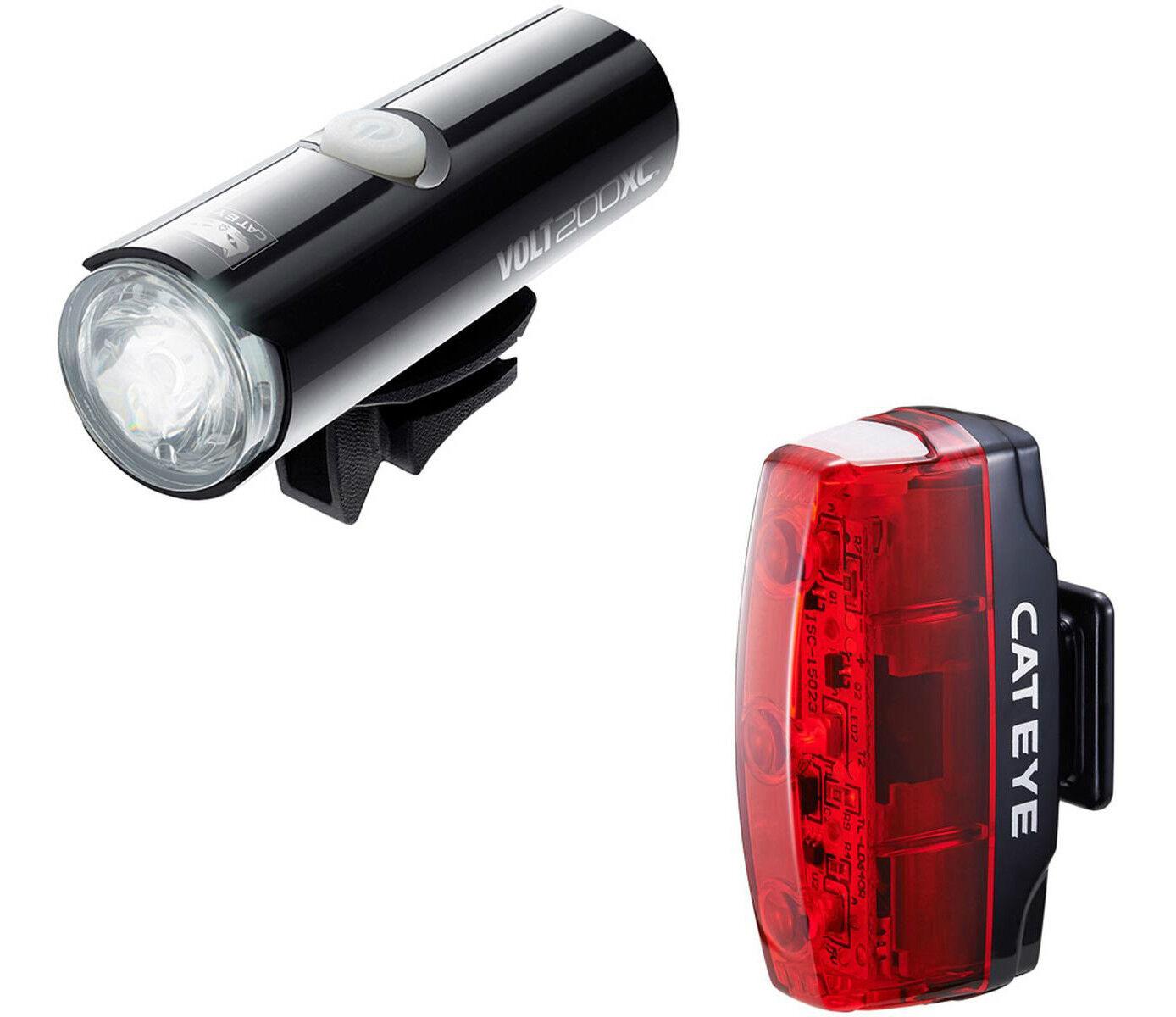 CatEye Set of 2 Bike Lights Volt 200XC & Rapid Micro