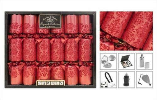 New 6 Pack Exquisite Embossed Quality Crackers Xmas Party Decoration Cracker