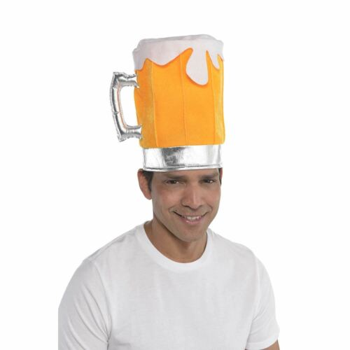 Birra pinta VASO VETRO Cappello Fancy Dress Stag Party Costume Accessorio Nuovo