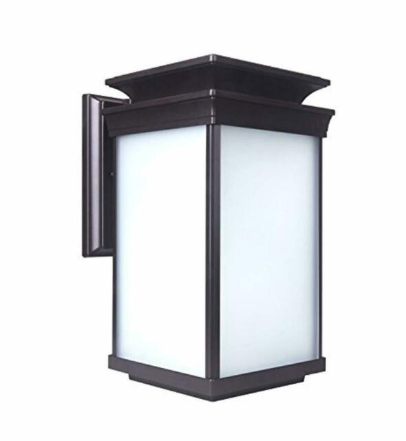 Lit Path Outdoor Led Wall Lantern Sconce As Porch Lighting Fixture 12 5w