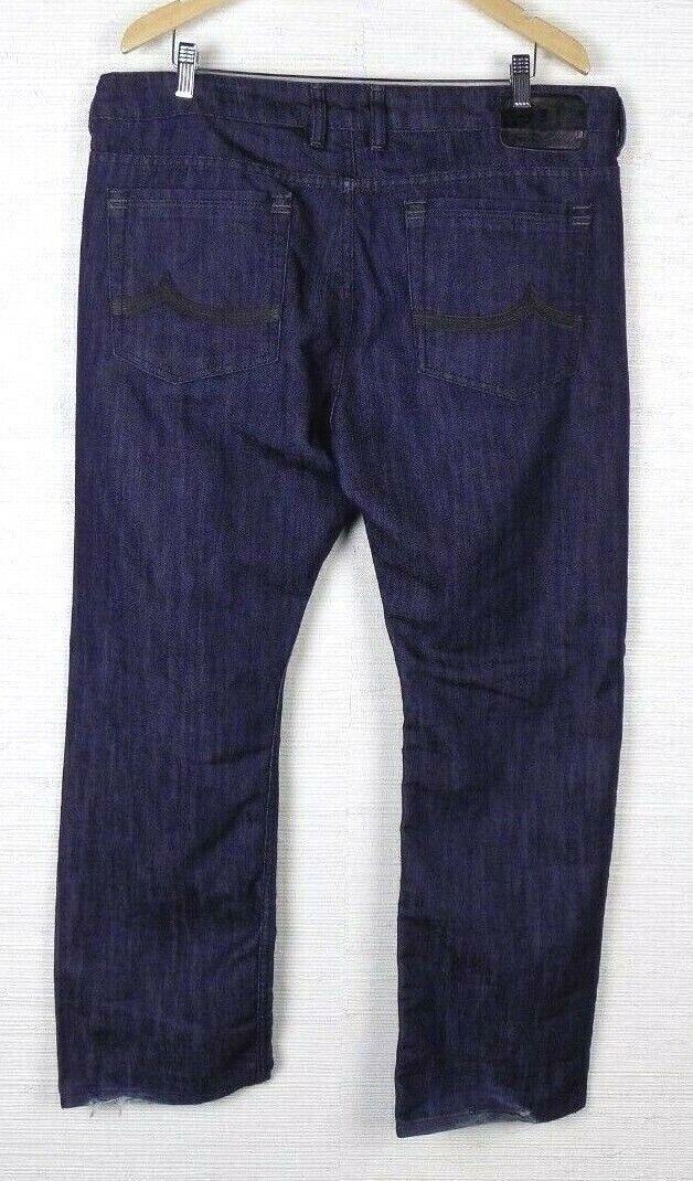 I JEANS BY BUFFALO Mens Straight Leg Jeans Sz 38 x 30 Stewart Easy Dark Wash