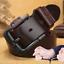 Homme-Ceinture-en-cuir-veritable-ceinture-bracelet-retro-noir-Pin-Boucle-Decontracte-Jeans-Ceinture miniature 3