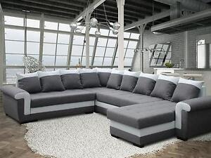 gro ecksofa ivett prim mit schlaffunktion eckcouch sofagarnitur modern 01 ebay. Black Bedroom Furniture Sets. Home Design Ideas