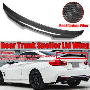 M4 LOOK STYLE FITS 2014-2020 BMW 428i 435i 440i CARBON FIBER TRUNK SPOILER WING