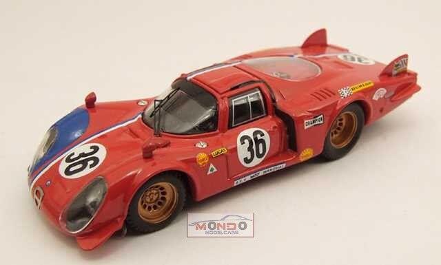 Alfa Roemo 33.2 Le Mans 1969  36 1:43 Best Model Be9351 Modellino Auto Diecast