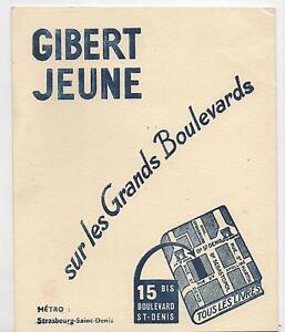 Buvard - Librairie Gibert Jeune Grands Boulevards. Impression Bleue (réf. 67/16) Baviq9ir-07230735-195737248