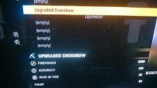 DYING LIGHT UPGRADED CROSSBOW AND BOLTS XBOX ONE DYING KIGHT THE FOLLOWING