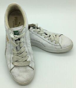 size 40 aab3e 2a459 Details about Puma Basket Eco Ortholite Classic White Leather Fashion  Sneakers Mens US 10