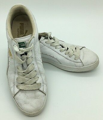 Puma Basket Eco Ortholite Classic White Leather Fashion Sneakers Mens US 10 | eBay