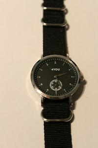 4You Armbanduhr Stahl Nylonband Quartzwerk 250001011