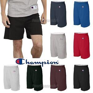 "Champion Mens Cotton Shorts 6"" Inseam S-3XL Gym Athletic ..."