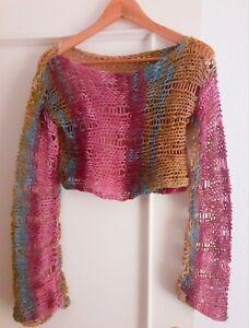 Jersey-multicolor-cropped-handmade-multicolor-Boho-Talla-M-Nuevo