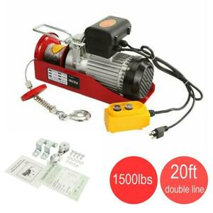 1500lbs Electric Hoist Winch Overhead Crane Lift Wire Garage w//Remote Automotive