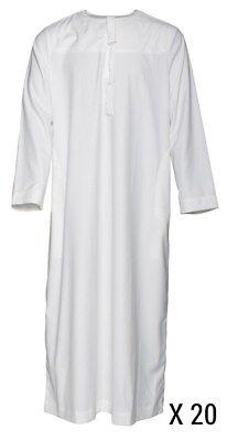 20 X Ragazzi Plain White Giuba Moschea | | Madressah | Abbigliamento Islamico-mostra Il Titolo Originale