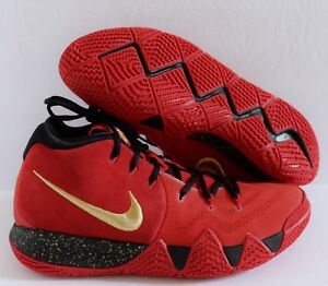 watch 68c57 90363 Image is loading NIKE-MEN-KYRIE-4-ID-RED-BLACK-GOLD-