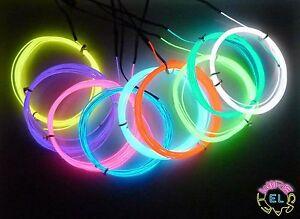 1metre-EL-Wire-1-3mm-diameter-Fine-039-Angel-Hair-039-Tron-Glow-Neon-4-a-metre