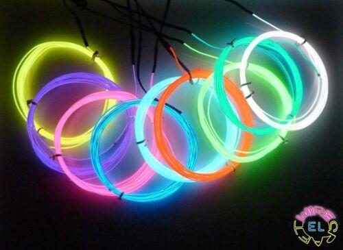 Tron Glow Neon *£4 a metre* 1metre EL Wire = 1.3mm diameter Fine /'Angel Hair/'