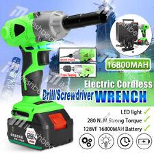 Cordless Electric Impact Wrench Gun 12 Driver Drill 16800mah Li Ion Battery