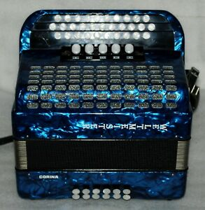 WELTMEISTER CORINA III  G-C-F 3 Row Button Accordion 5 Switch Excellent