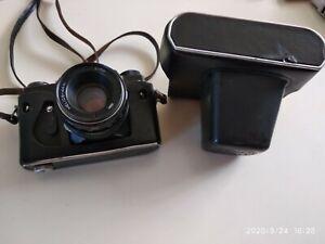 Retro Russische 35 mm Filmkamera Zenit mit Helios 44m Objektiv
