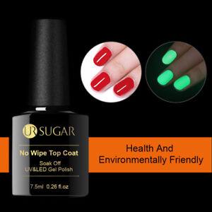 UR-SUGAR-Nail-No-Wipe-Top-Coat-Luminous-UV-Gel-Polish-Soak-off-Nail-Art