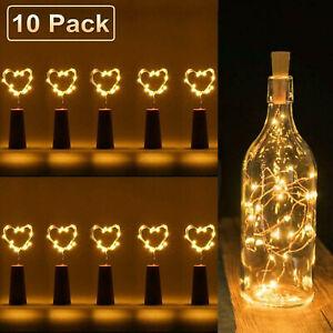 1/10pcs 2M 20 LED Liège Chaîne Lumière Bouteilles Lampe Lumières Féériques DIY